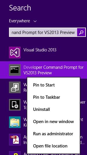 Visual Studio Developer Command Promt