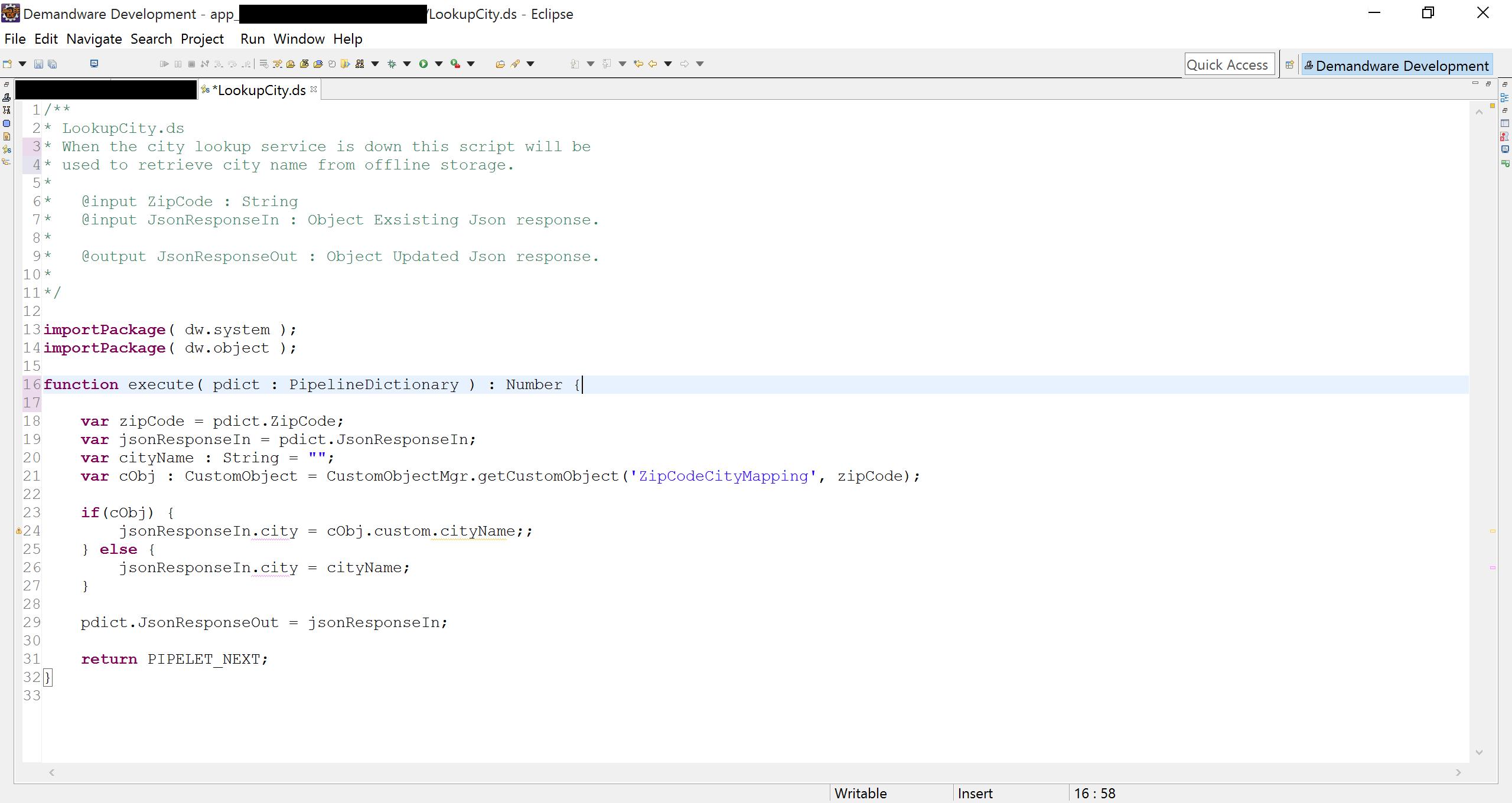 Demandware Script